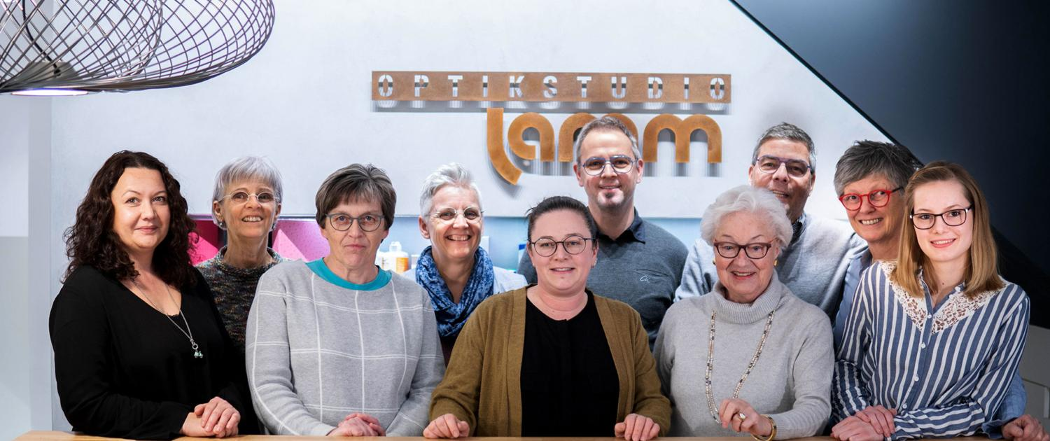 Das Brillen-Team vom Optikstudio-Lamm